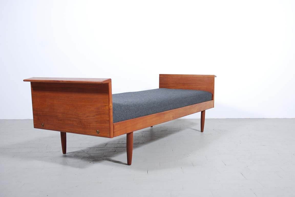 Daybed scandinavian sofa teak vintage design danish 1960