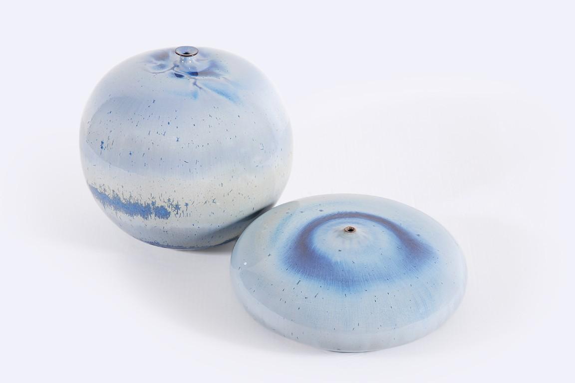 antonio lampecco céramique émail cristallisé pot vase déco
