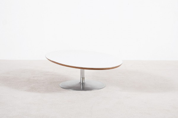 pierre paulin table basse blanc acier design vintage 1960