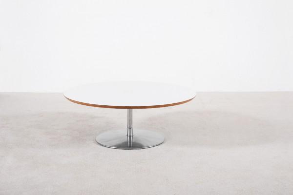 pierre paulin artifort table basse blanc acier vintage 1960