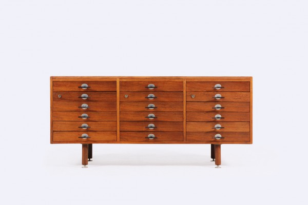 jens risom commode enfilade palissandre 1960 vintage danois