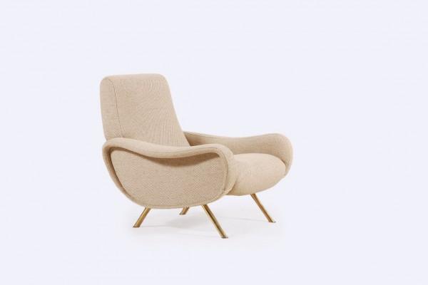 marco zanuso fauteuil lady 720 1951 beige italien arflex