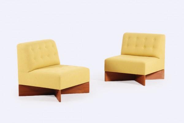 pierre guariche chauffeuse fauteuil capitole jaune 1950 1960