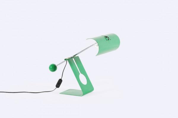 mauro martini charoy picchio lampe métal vert 1970 balancier