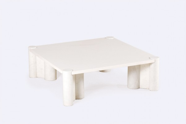 gae aulenti knoll marble carrara jumbo coffee table 1960